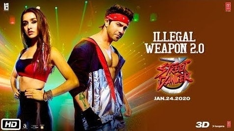 Illegal Weapon 2.0 Lyrics | Street Dancer | Varun Dhawan | Shraddha